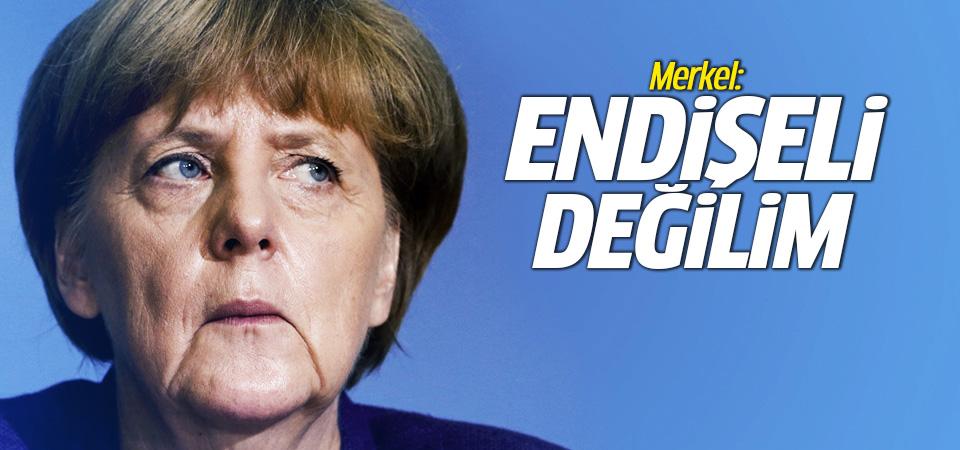 Merkel: Geri kabul anlaşması konusunda endişeli değilim