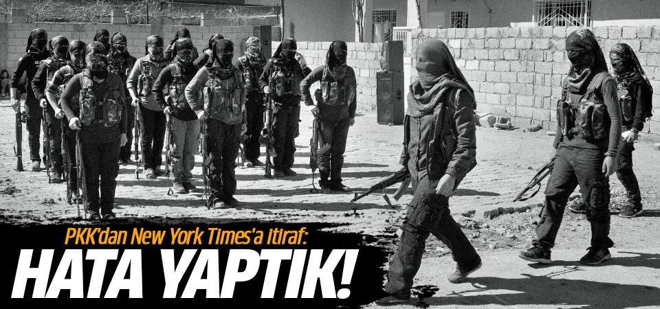 PKK'dan New York Times'a itiraf: Hata yaptık!