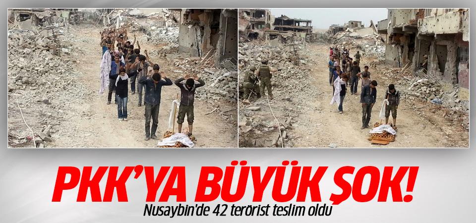 Nusaybin'de 42 terörist teslim oldu