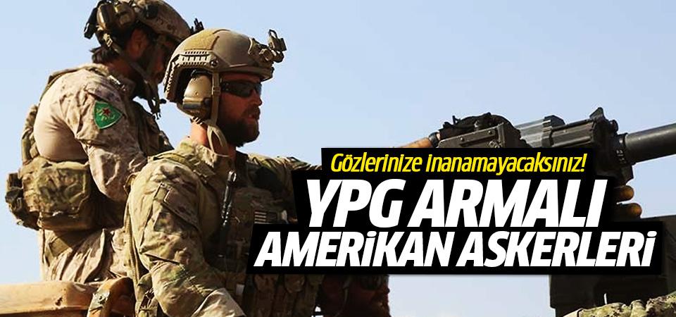 YPG armalı Amerikan askerleri