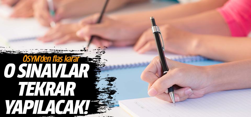 Şüpheli adaylara sınav tekrarı!