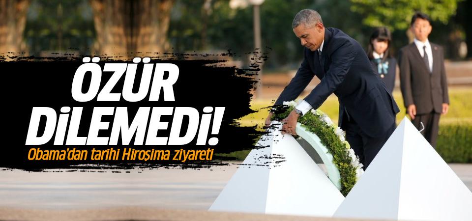 Obama'dan tarihi Hiroşima ziyareti