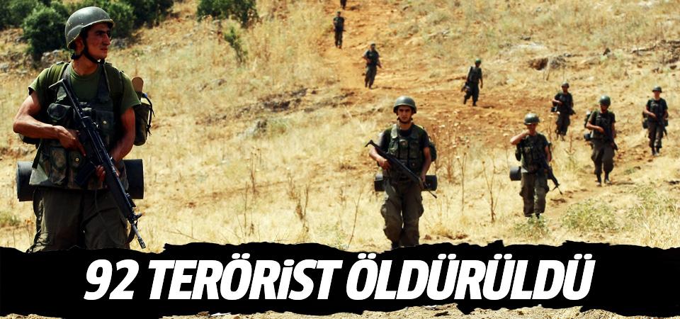 Genelkurmay: Örgütün sözde üst düzey yöneticisi ile 80 terörist etkisiz hale getirildi