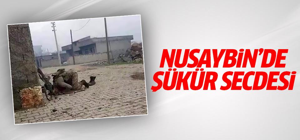 Nusaybin'de askerden şükür secdesi