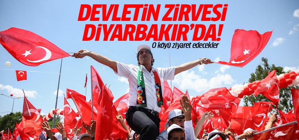 Devletin zirvesi Diyarbakır'da!