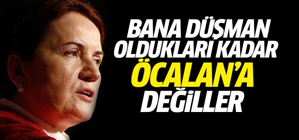 Akşener: Bana düşman oldukları kadar Öcalan'a düşman değiller