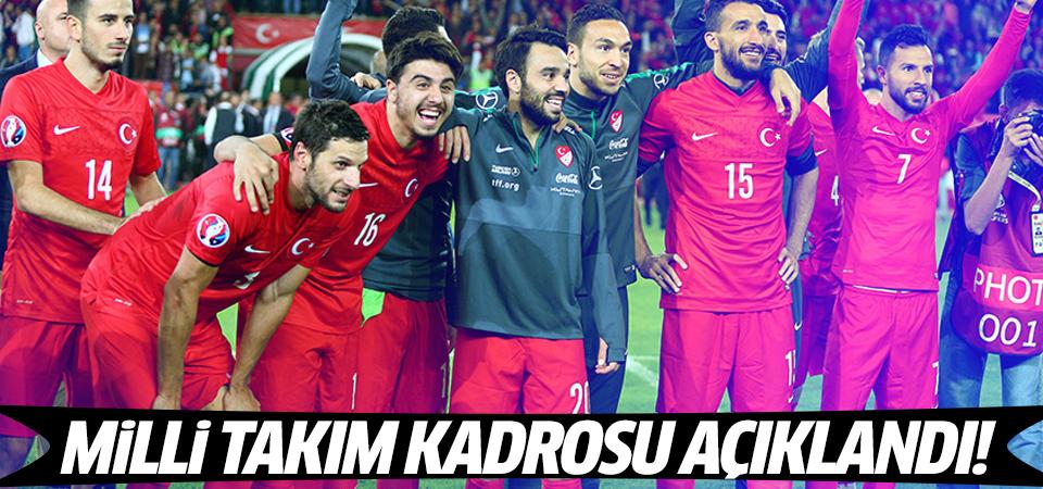 İşte A Milli Takım'ın Euro 2016 kadrosu