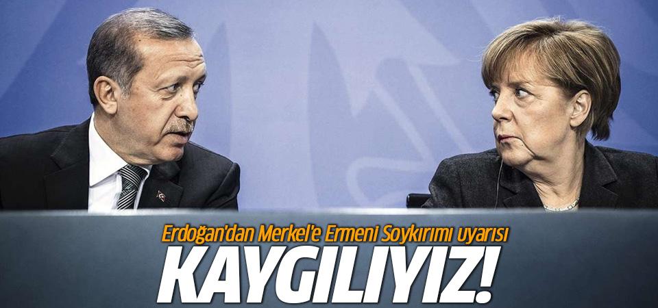 Erdoğan'dan Merkel'e Ermeni Soykırımı uyarısı!