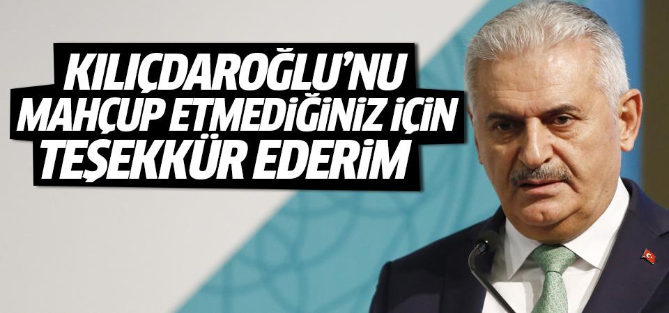 Yıldırım: Kılıçdaroğlu'nu mahçup etmediğiniz için teşekkür ederim
