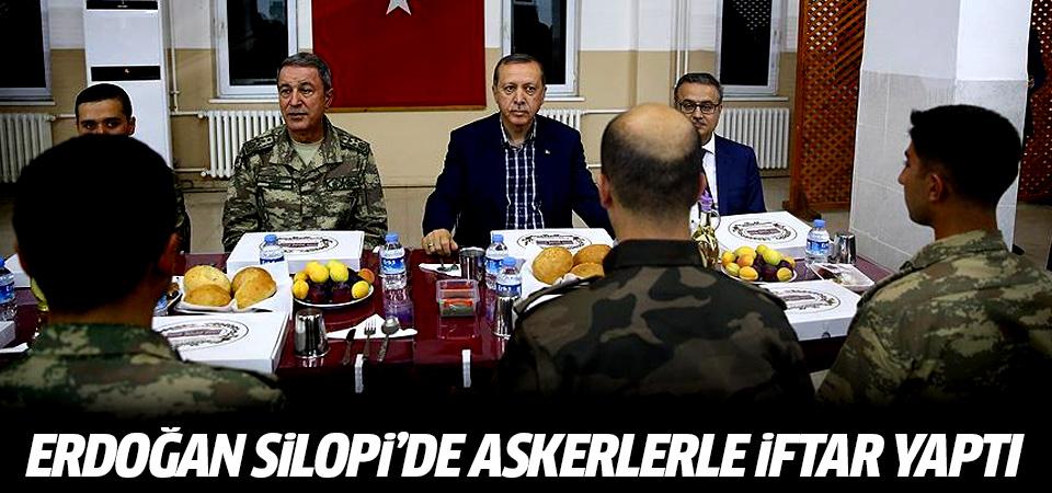 Erdoğan Silopi'de askerlerle iftar yaptı
