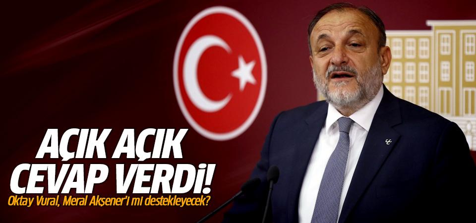 Oktay Vural, Meral Akşener'i mi destekleyecek? Yanıt verdi