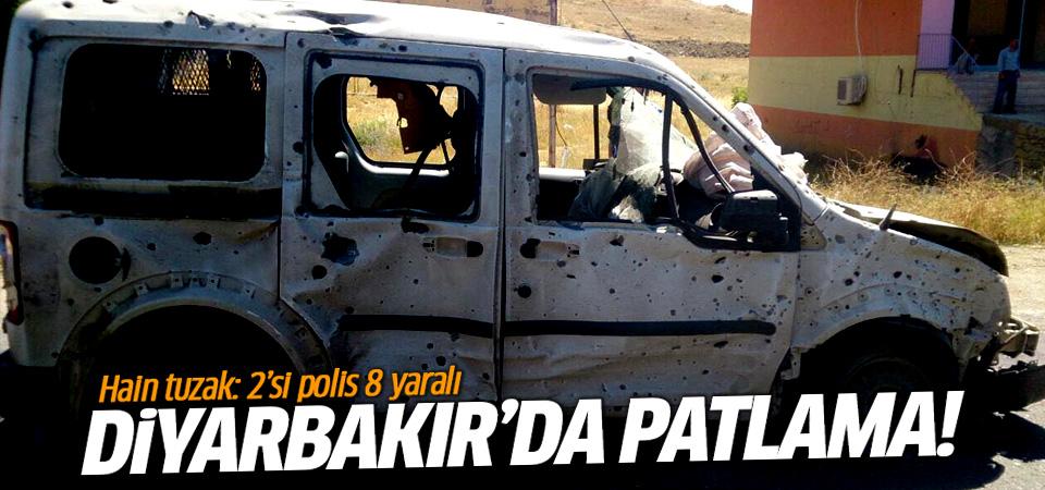 Diyarbakır'da patlama: 2'si polis, 8 yaralı