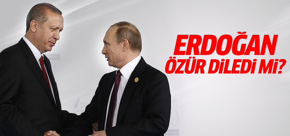 Erdoğan özür diledi mi? İşte yanıtı...