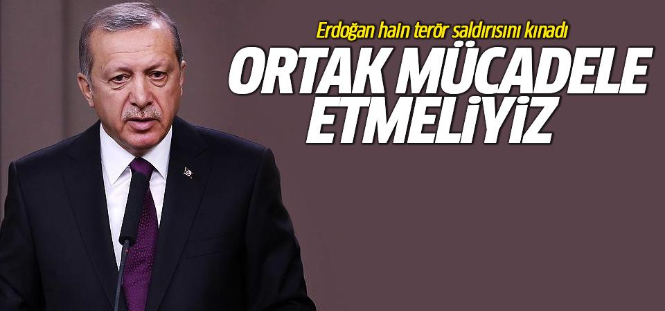 Erdoğan: İnsanlık olarak teröre karşı ortak mücadele etmeliyiz