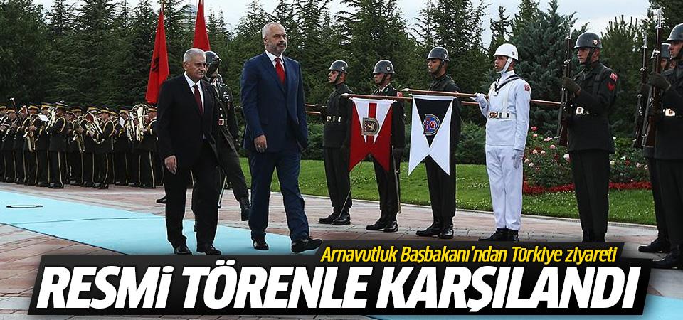 Yıldırım, Arnavutluk Başbakanı Rama'yı resmi törenle karşıladı