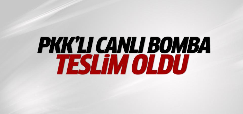 Bir PKK'lı canlı bomba teslim oldu