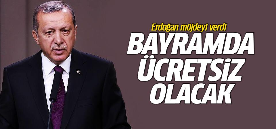 Erdoğan açıkladı! Osmangazi Köprüsü bayramda ücretsiz olacak