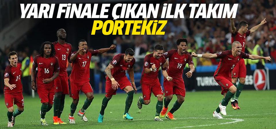 EURO 2016'da yarı finale yükselen ilk takım Portekiz
