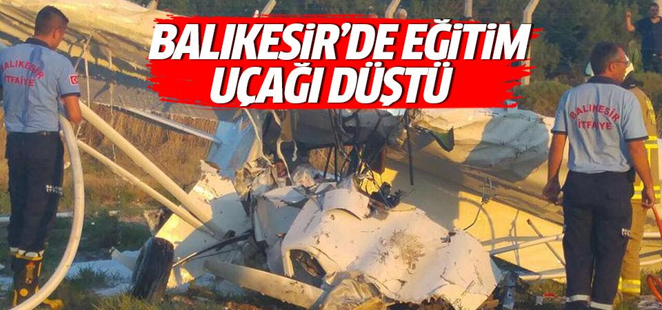 Balıkesir'de bir eğitim uçağı düştü