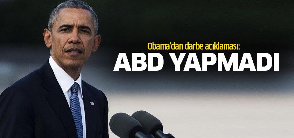 ABD Başkanı Obama: ABD'nin darbe girişimiyle ilgisi yok