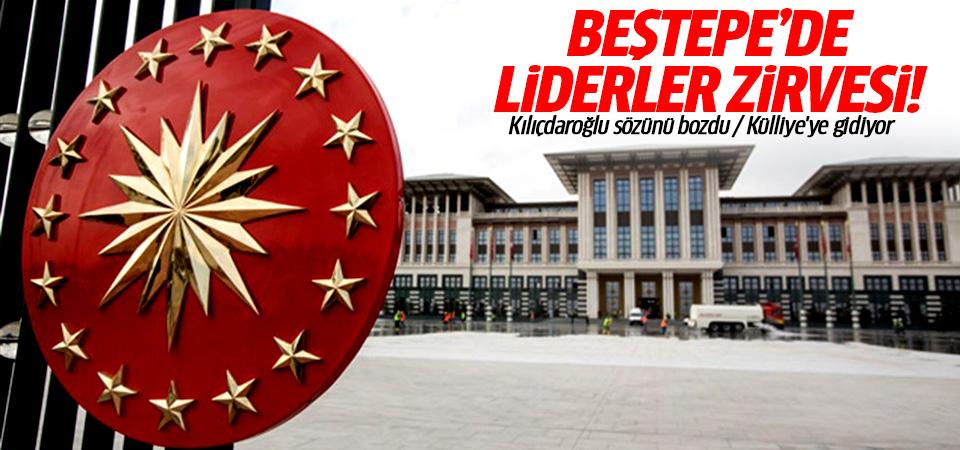 Erdoğan Beştepe'de, Kılıçdaroğlu ve Bahçeli'yle görüşecek