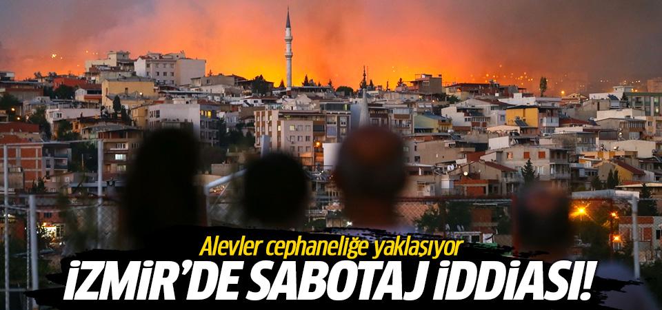 İzmir Buca'da sabotaj iddiası! Alevler cephaneliğe yaklaşıyor