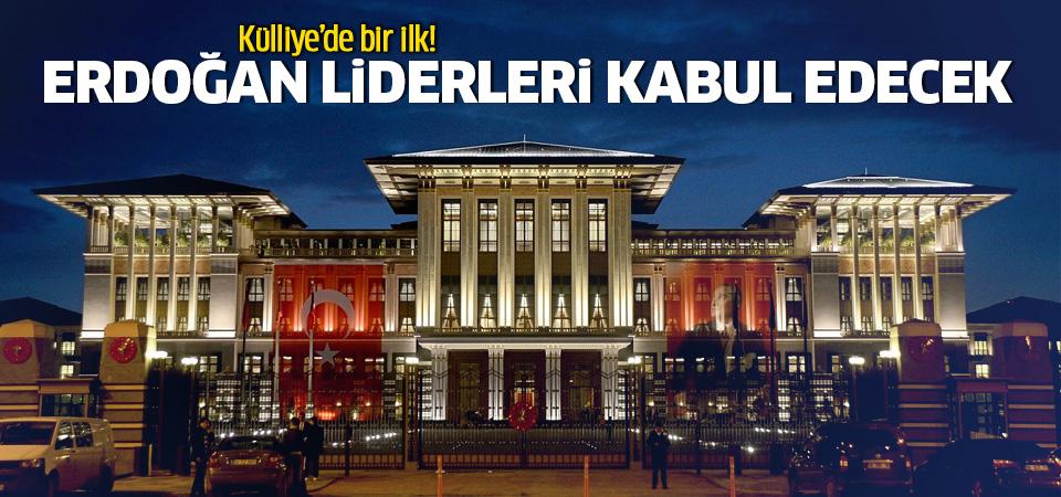 Cumhurbaşkanı Erdoğan, liderleri kabul edecek