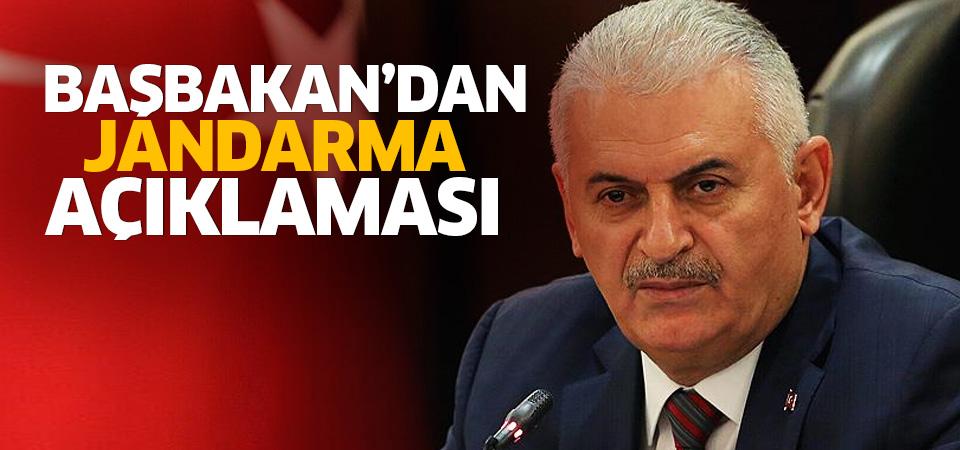 Başbakan Yıldırım'dan önemli jandarma açıklaması