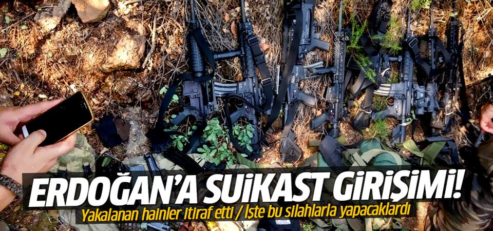 Erdoğan'a işte bu silahlarla suikast düzenleyeceklerdi!
