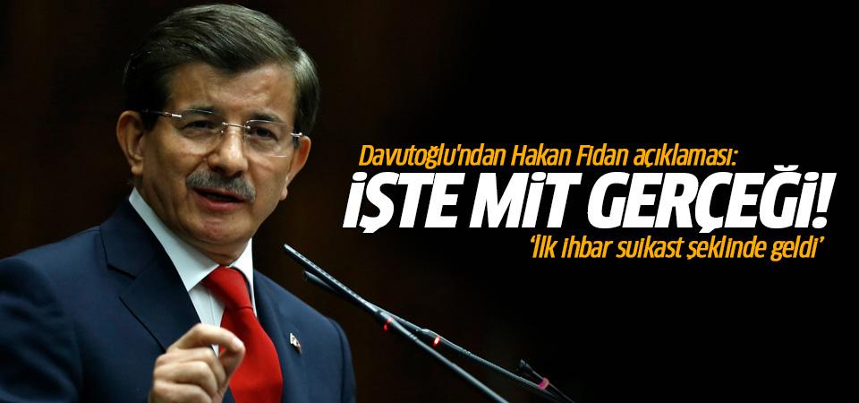 Davutoğlu'ndan Hakan Fidan açıklaması: Suikast ihbarı geldi