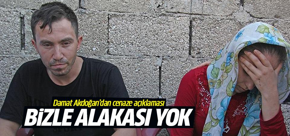 Akdoğan: Cenazede yaşananların bizimle hiçbir alakası yok