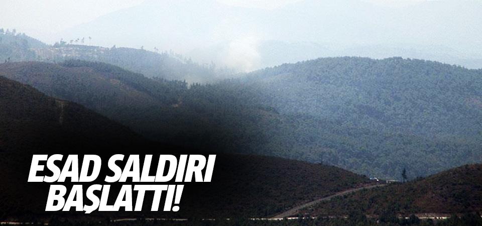 Türkmendağı'na topçu ateşi