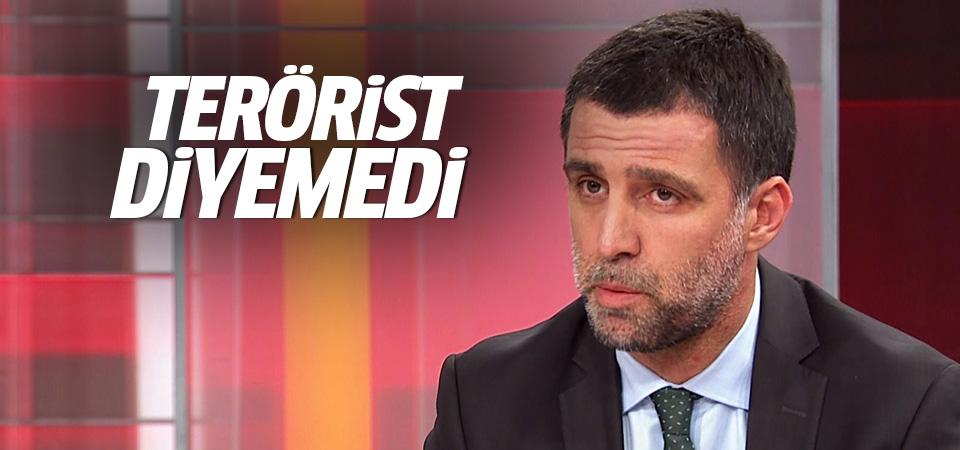 Hakan Şükür 'terörist' diyemedi!