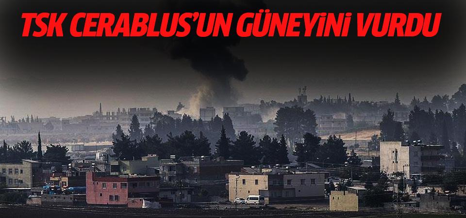 TSK, Cerablus'un güneyinde terör örgütlerine ait barakayı vurdu