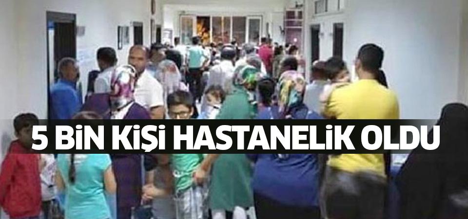 Elbistan'da 5 bin kişi zehirlendi!