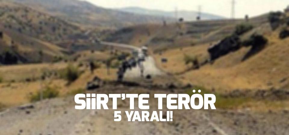 Siirt'te terör saldırısı: 5 yaralı
