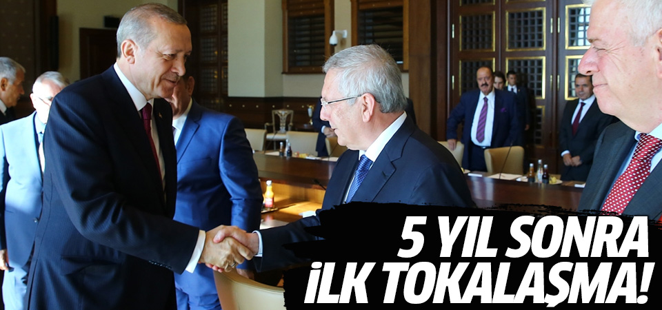5 yıl sonra ilk tokalaşma! Erdoğan Aziz Yıldırım ile görüştü