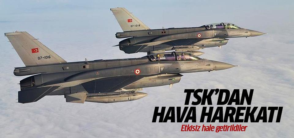 TSK'dan Suriye'nin Kulliyah bölgesine hava harekatı