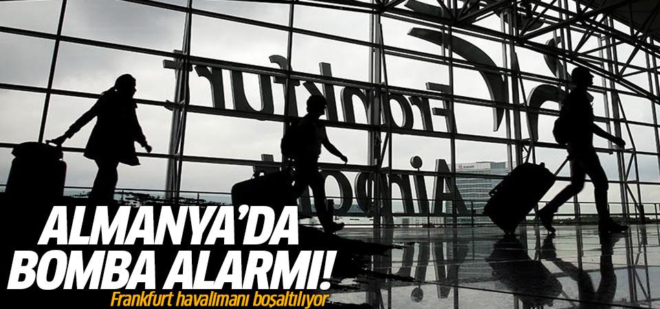 Frankfurt Havalimanı'nda bomba alarmı!