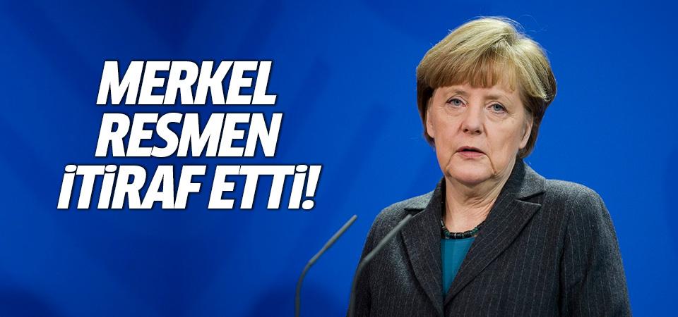 Merkel resmen itiraf etti!