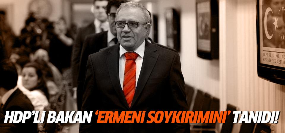 AB Bakanı HDP'li Konca Ermeni soykırımını tanıdı!