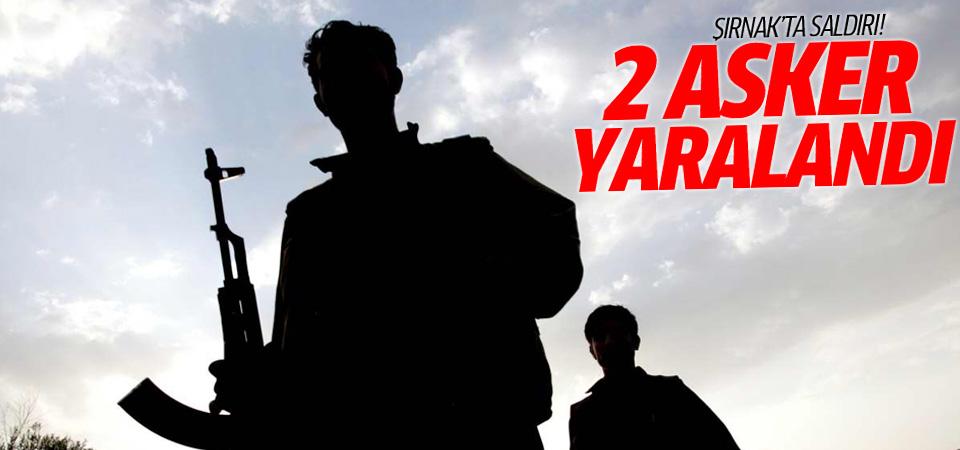 Şırnak'ta askere saldırı: 2 yaralı