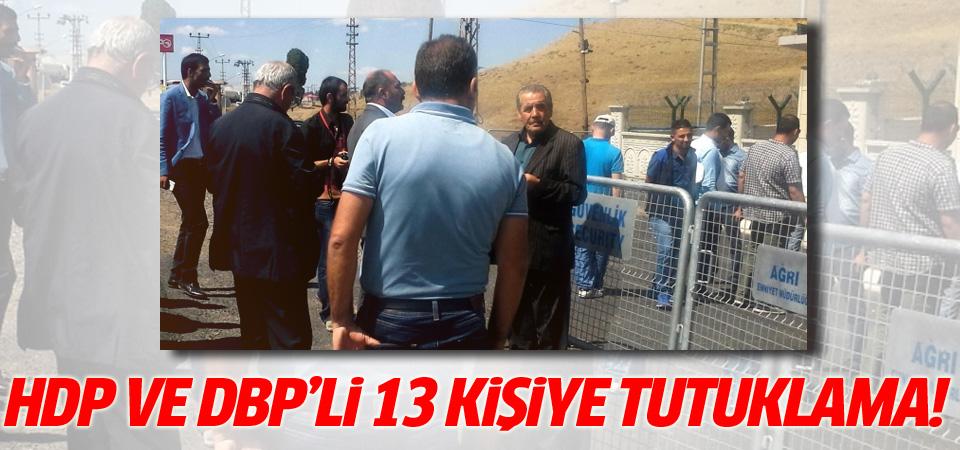 HDP'li ve DBP'li 13 kişiye gözaltı!