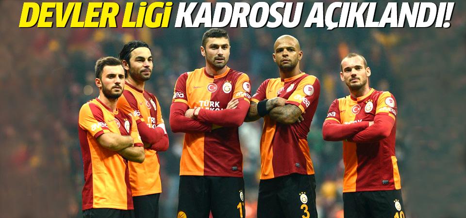 Galatasaray'ın Şampiyonlar Ligi kadrosu açıklandı!