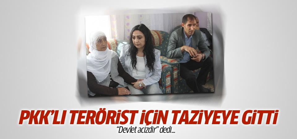 Figen Yüksekdağ teröristin taziyesinde!
