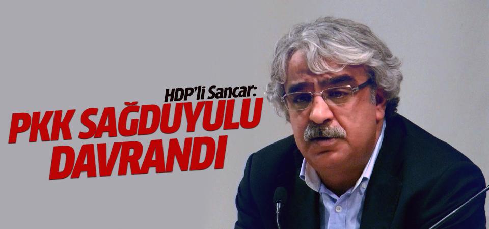 HDP'li vekil Sancar: PKK sağduyulu davrandı