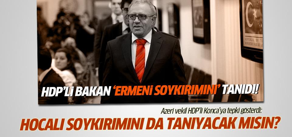 Azerbaycanlı vekilden HDP'li bakana Ermeni tepkisi!