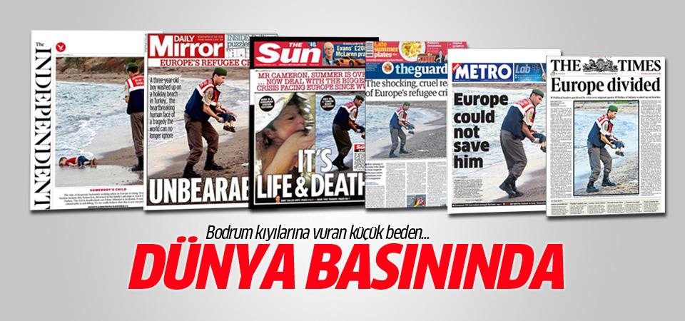Cansız bedeni Bodrum'a vuran Aylan Kurdi dünya basınında
