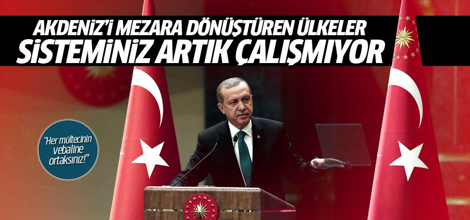 Erdoğan: Akdeniz'de boğulan insanlıktır