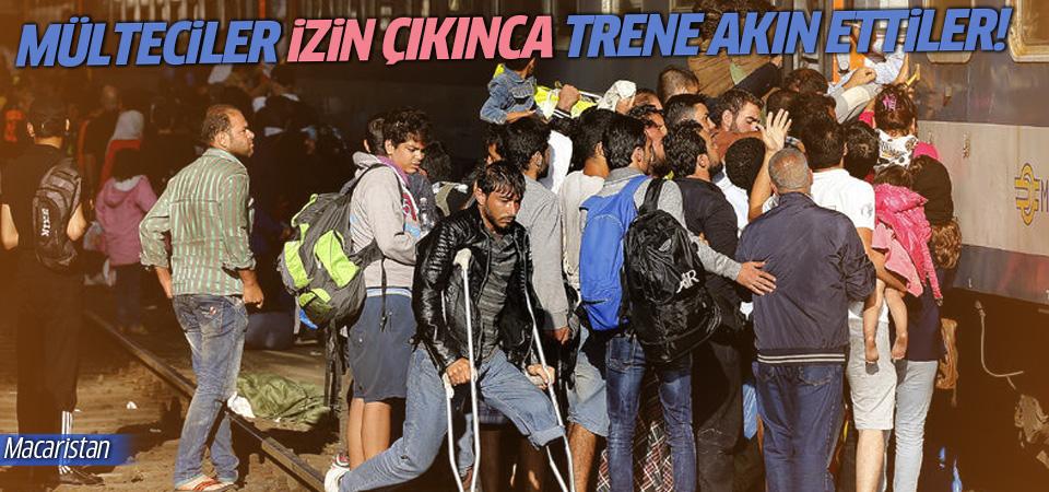 Mülteciler izin çıkınca trene akın ettiler!